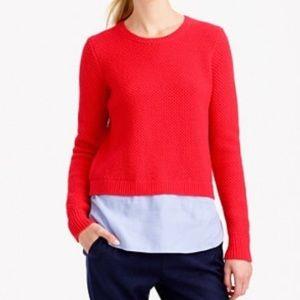 J. Crew Shirt Tail Sweater Lambs Wool